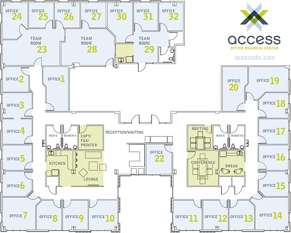 AOBC Office Map Team Rooms