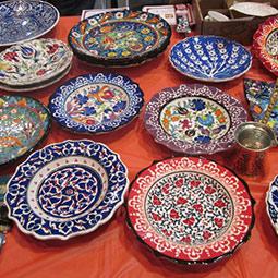 International festival - plates