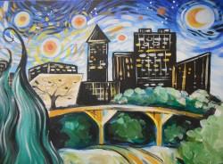 """Starry Raleigh Skyline"""